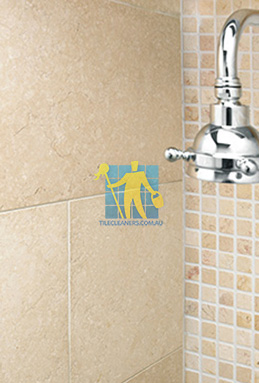 limestone tile shower thala cream Parkinson cleaning