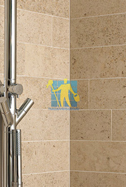 limestone tiles shower moleanos beige Parkinson cleaning