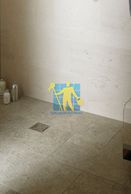 limestone tiles shower moleanos blue Parkinson cleaning