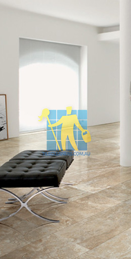 modern living room with textured rectangular porcelain tiles on floor Sandgate