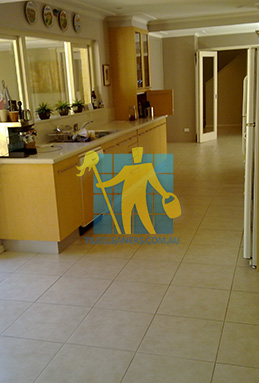 porcelain tiles floor inside furnished home after cleaning kitchen floors Sandgate